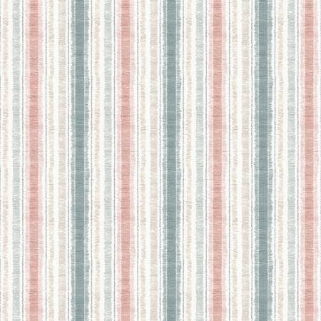 1 Yard Cut - Country Weekend Stripes Multi Color - Wilmington Fabrics