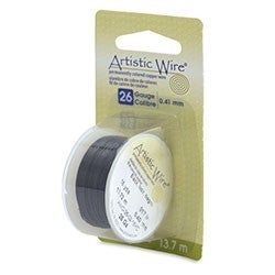 Artistic Wire- 26 Gauge Black, 15 yd