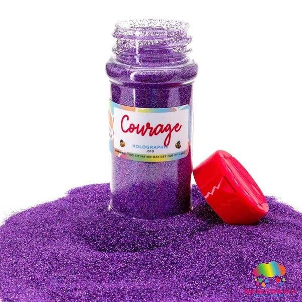 Courage Holographic Purple Fine Glitter - The Glitter Guy