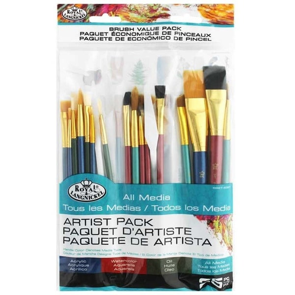 Royal Brush Paint Brush and Painting Knife Value Pack, 25 Pieces
