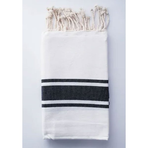 Traditional Fouta White & Black