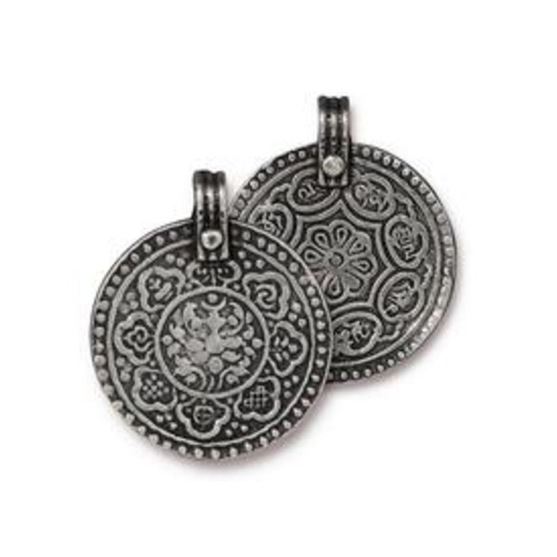 Eight Signs Pendant, Antiqued Pewter- Tierra Cast
