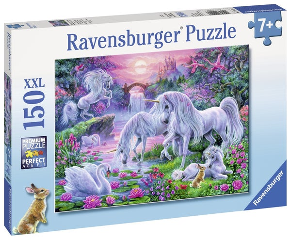 Unicorns in the Sunset Glow 150 Pieces, Puzzle