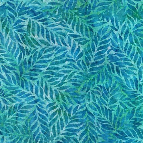 1 Yard Cut - Ohana Batik Fern Fabric, Scuba