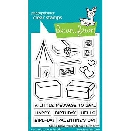 Lawn Fawn Special Delivery Add-on Clear Stamps