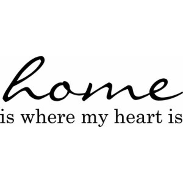 Rub-On Vinyl- Home is Where the Heart Is