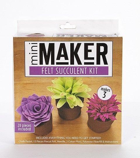 Mini Maker Succulent Felt Kit