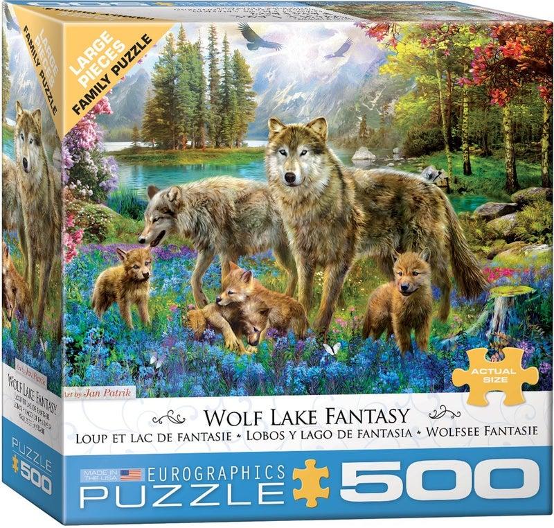 Wolf Lake Fantasy by Jan Patrik 500-Piece Puzzle