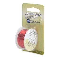 Artistic Wire- 26 Gauge  Red, 15 yd