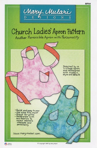 Church Ladies Apron Pattern- Mary's Production