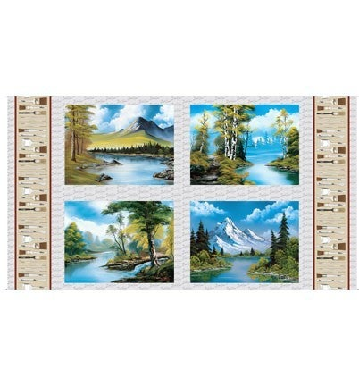 PRE SELL Bob Ross' Joy of Painting 4 Scenic Paintings Panel