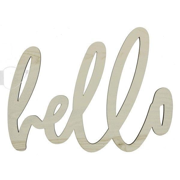 Hello Wood Word