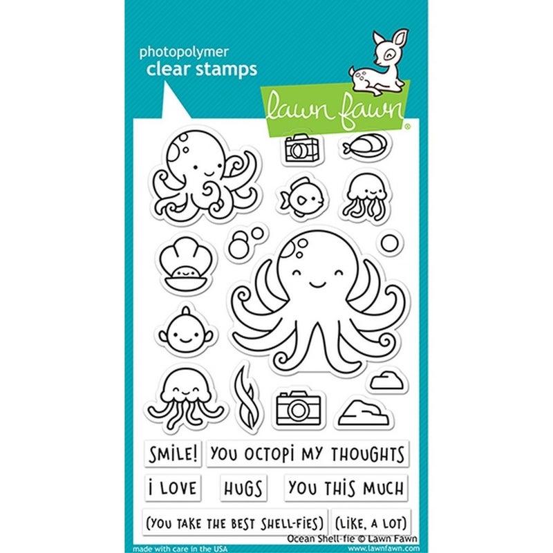Ocean Shell-Fie Stamp Set, Lawn Fawn
