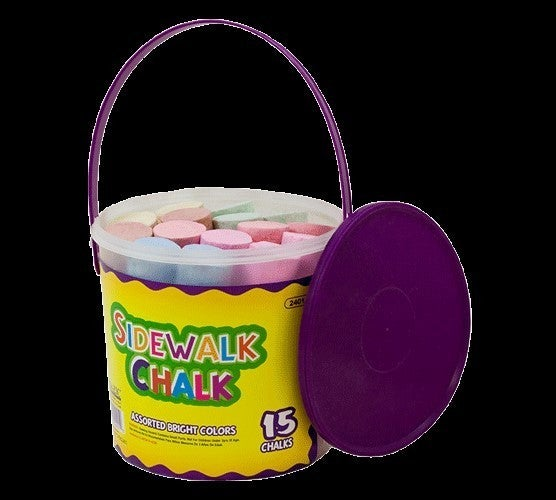 Jumbo Sidewalk Chalk 15 piece Tube