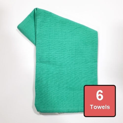 Aqua Cotton Tea Towels 6pc