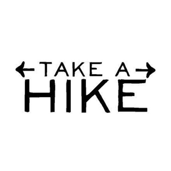 Rub On Vinyl- Take a Hike, Black