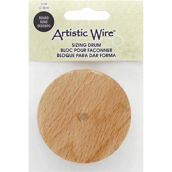 Artistic Wire Sizing Drum Round 6cm