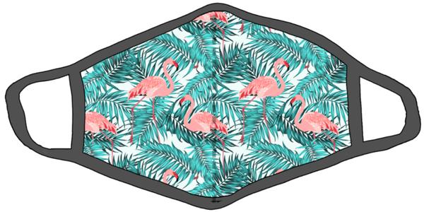 Face Cover Flamingo Palm