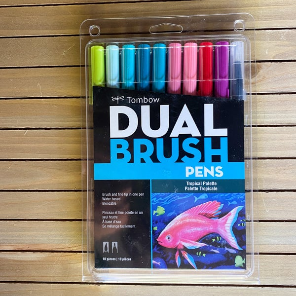 Tombow Dual Brush Pens, Tropical Palette, 10 pcs