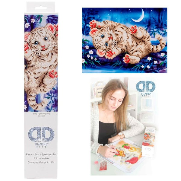 Diamond Dotz Facet Art Kit Intermediate Baby Tiger Roly Poly