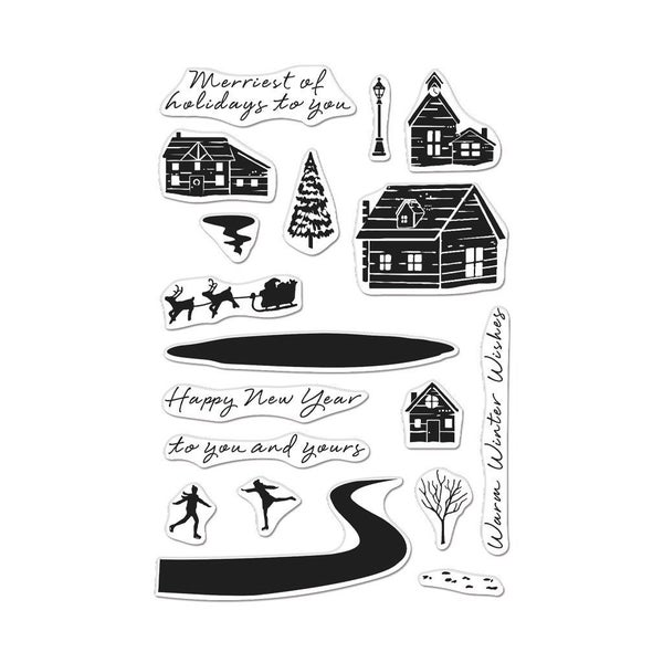 Snowy Town Stamp Set by Hero Arts
