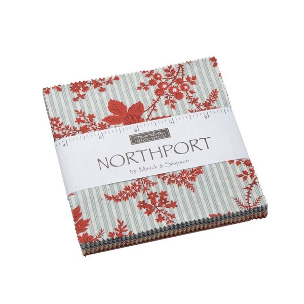 """Charm Pack, Northport 5"""" Fabric"""