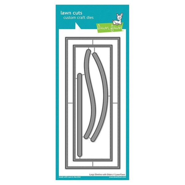 Large Slimline with Sliders Die Cut, LAwn Fawn