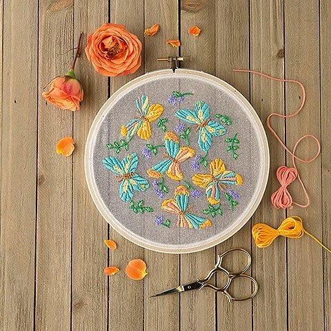 Mini Maker Butterfly Embroidery Project