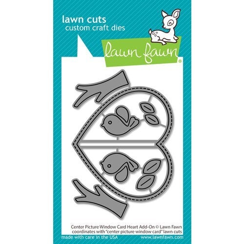 Lawn Fawn Center Picture Window Card Heart Add-on Die Cuts