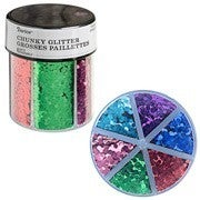 Darice® 6-Color Chunky Glitter Caddy: Primary