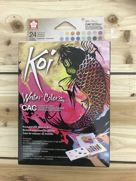 Koi Field Watercolor 24 Creative Colors Pocket Box Set