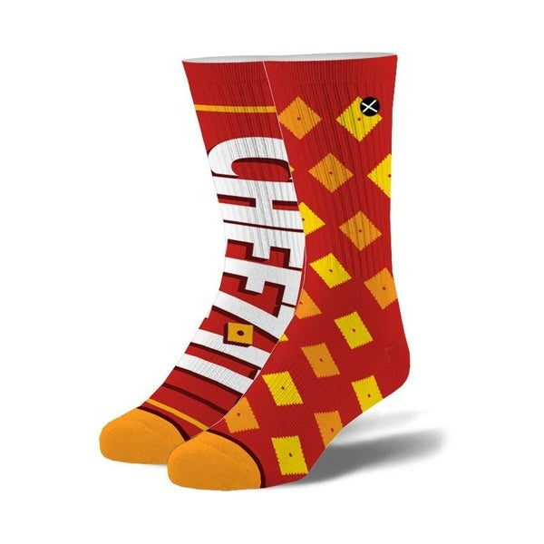 Cheez-Its Crackers Knit Crew Socks