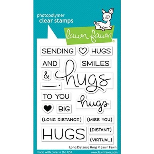 Lawn Fawn- Long Distance Hugs Stamp Set