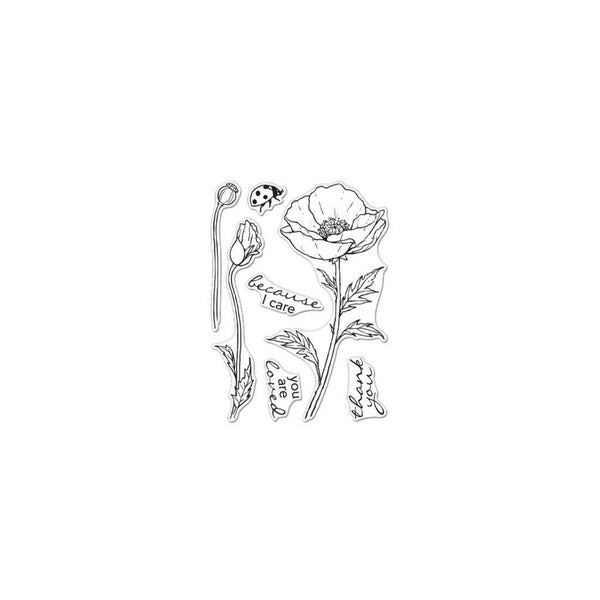 Hero Arts- Floral Poppy Stamp Set
