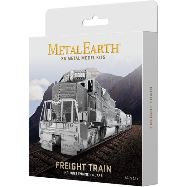 Metal Earth 3D Model Kit,  Freight Train
