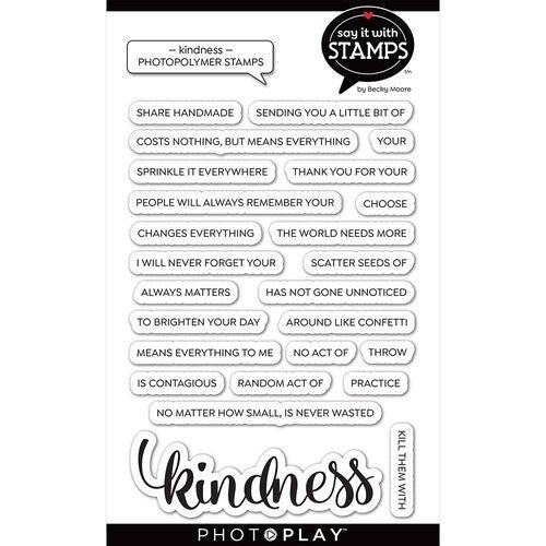 Kindness word stamp set