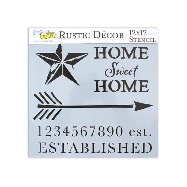 12x12 Home Sweet Home Stencil
