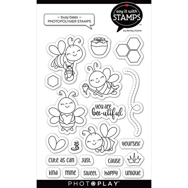 Busy Bees clear stamp set