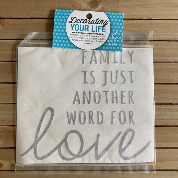 Family Just Another Word For Love, Vinyl Black