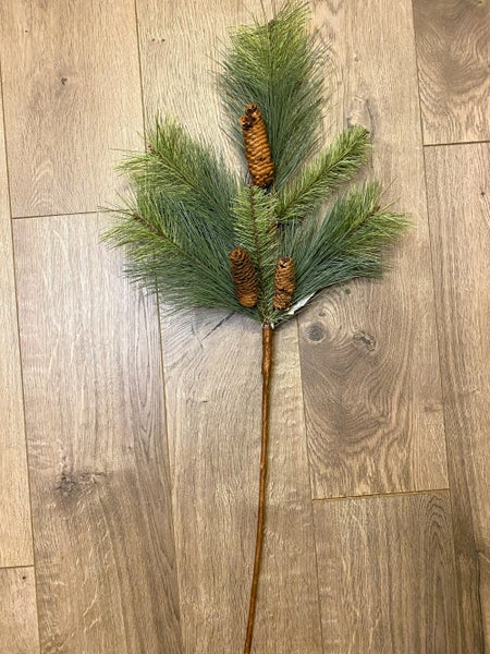28 inch Fir Spray with Pinecones