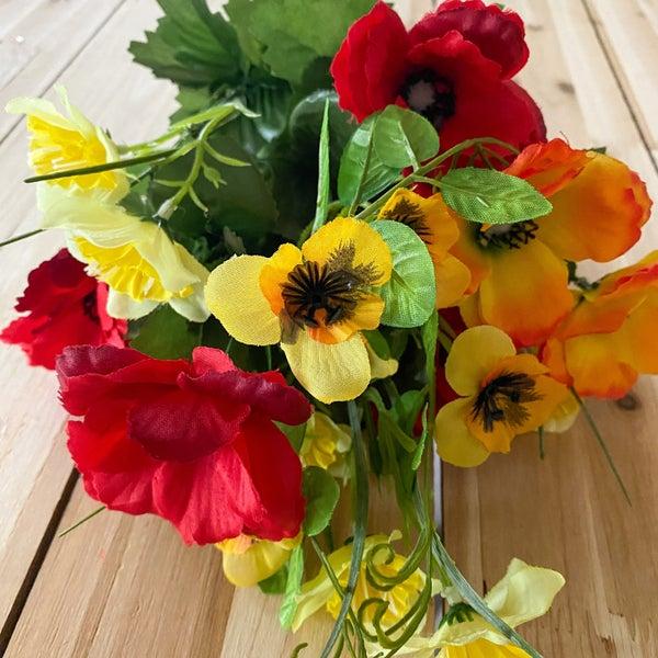 Color Fast Poppy Daffodil Bush