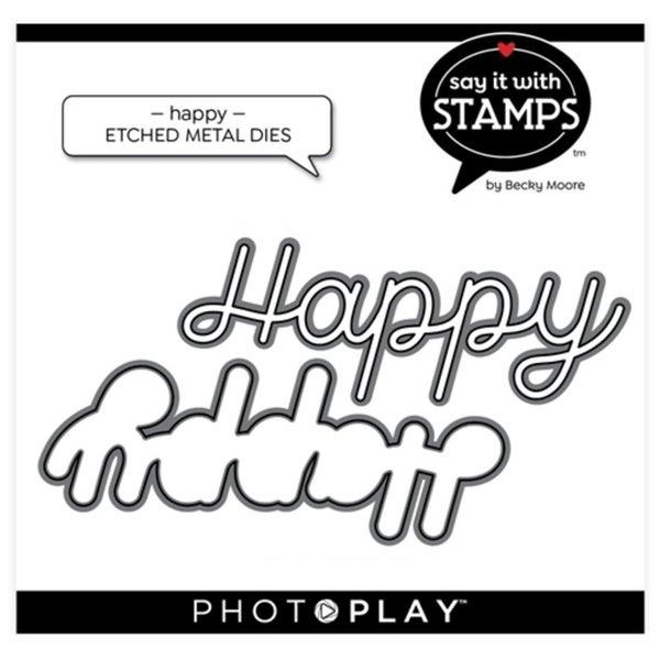 PhotoPlay- Happy Die Set