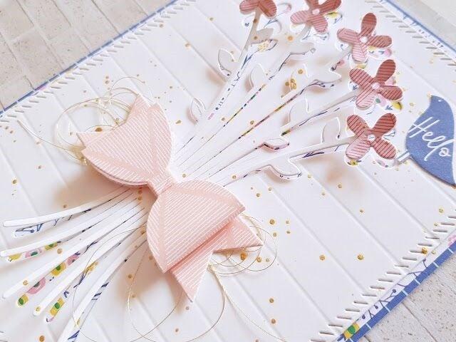 Pink Fresh Studios- Partial Cut Bouquet and Bow Die Cut Set