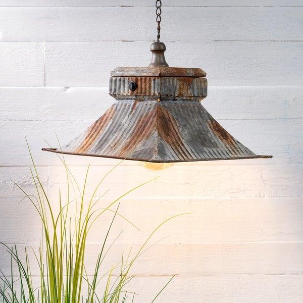 Rustic Metal Hanging Light Fixture