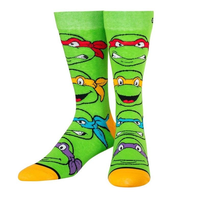 Ninja Turtle Boys Knit Crew Socks