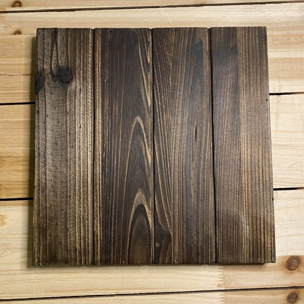 Wood Square Pallet Board, 12 x 12- Dark Brown