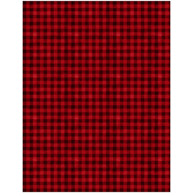 1 yard cut - Hot Cocoa Bar Gingham Black and Red