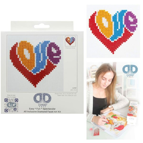 Diamond Dotz Facet Art Kit Beginner Love