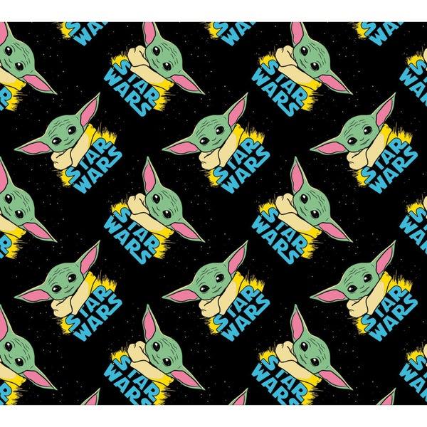 1 Yard Cut - Star Wars The Child aka Baby Yoda Allover Print Fabric