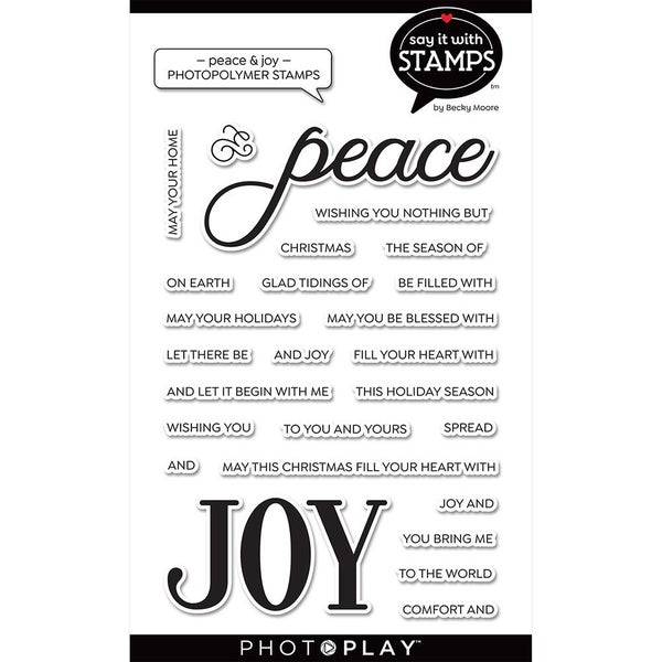 Peace Joy Stamp Set by Photo Play - Say it with Stamps